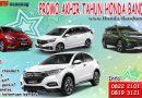 Promo Akhir Tahun Honda Bandung