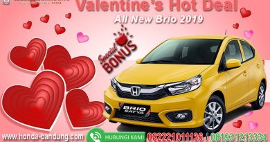 Promo Honda Brio Valentine Hot Deal 2019
