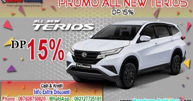Promo All New Terios 2019 DP 15% Bandung