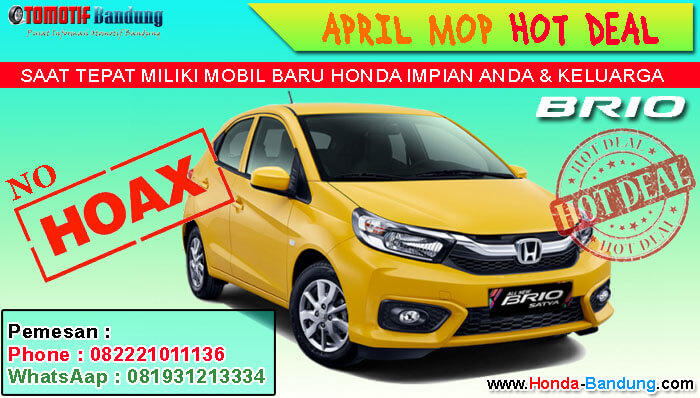 APRIL MOP HOT DEAL HONDA BRIO